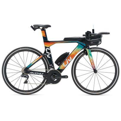 Liv Avow Advanced Pro 1 Damen-Triathlon-Rad 2019 | Darkgreen-Green-Orange Matt