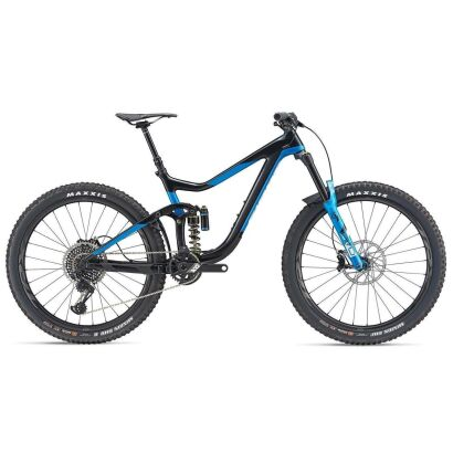 Giant Reign Advanced 0 MTB Fully 2019 | Carbonblack-Metallicblue