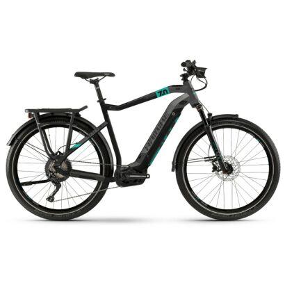 Haibike SDURO Trekking 7.0 Herren i500Wh E-Bike 11G SLX 2020   schwarz/türkis/anthrazit