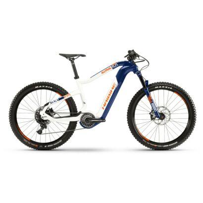 Haibike XDURO AllTrail 5.0 i630Wh Flyon E-Bike 11-G NX 2021 | blau/weiß/orange