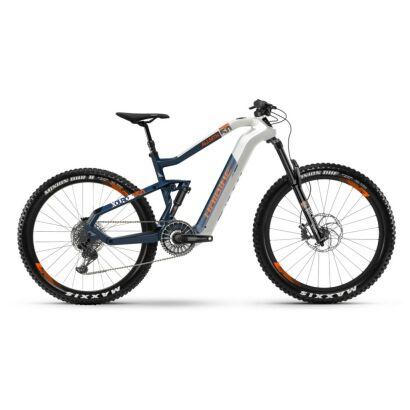 Haibike XDURO AllMtn 5.0 i630Wh Flyon E-Bike 11-G NX 2021 | weiß/blau/orange