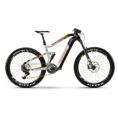 Haibike XDURO AllMtn 10.0 i630Wh Flyon E-Bike 12-G XX1 Eagle 2021 | carbon/silber/rot matt,