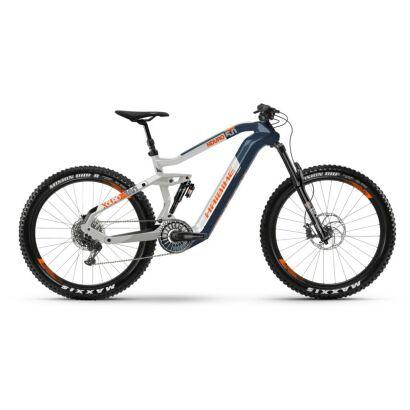 Haibike XDURO Nduro 5.0 i630Wh Flyon E-Bike 11-G NX 2021 | blau/weiß/orange