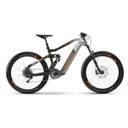 Haibike XDURO Nduro 8.0 i630Wh Flyon E-Bike 11-G XT 2021   silber/oliv/orange matt