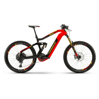 Haibike XDURO Nduro 10.0 i630Wh Flyon E-Bike 8-G EX1 2021 | rot/carbon/gelb