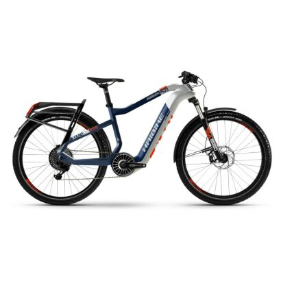 Haibike XDURO Adventr 5.0 i630Wh Flyon E-Bike 11-G NX 2021 | weiß/blau/orange