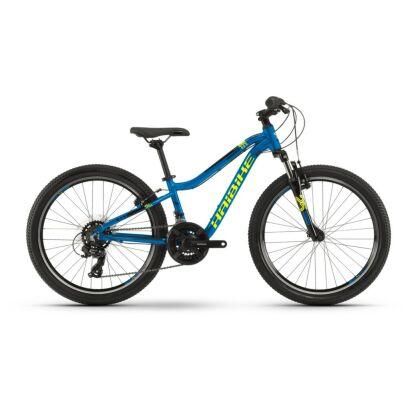 "Haibike SEET HardFour 1.0 24"" 21-G Tourney 2021 | blau/gelb/schwarz"
