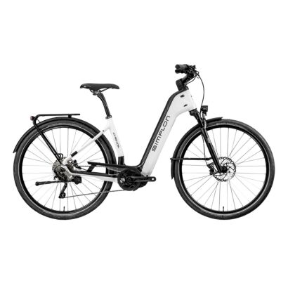 Simplon Chenoa Bosch CX Uni Deore Tiefeinsteiger Pearlwhite Glossy / Black Glossy, BS-Edition | 2021
