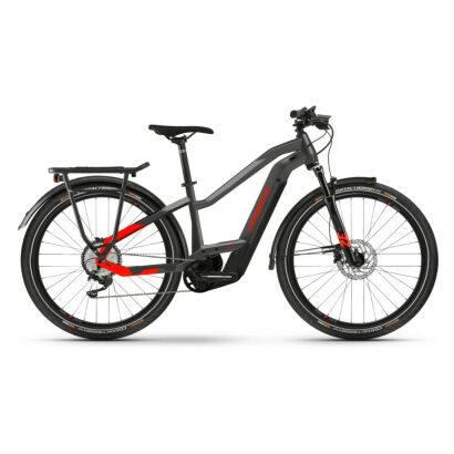 Haibike Trekking 9 i625Wh E-Bike Low Standover 11-G Deore 2021 | anthracite/red