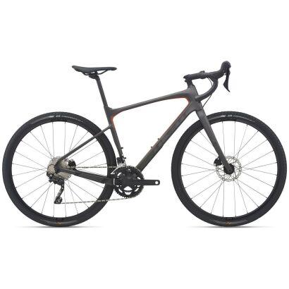 Giant Revolt Advanced 3 Gravel Bike 2021 | warm black / saffron matt-gloss
