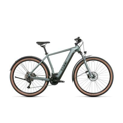 Cube Nuride Hybrid Pro 625 Allroad Trekking E-Bike 2022 | silvergreen´n´black