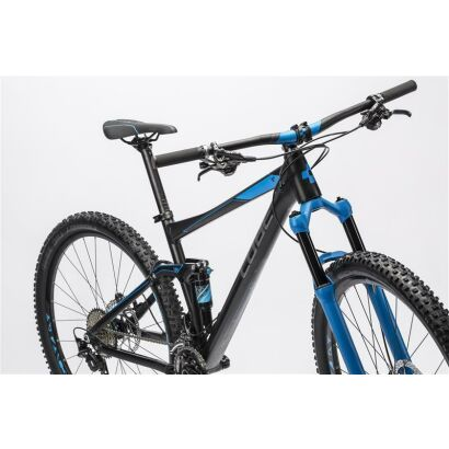 cube stereo 120 hpa race 29 mtb fully 2016 black n blue. Black Bedroom Furniture Sets. Home Design Ideas