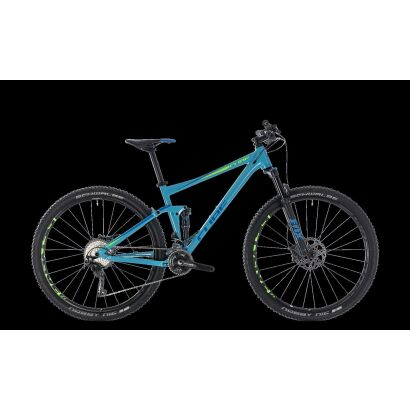 Cube Stereo 120 Race MTB Fully 29 2018 | blue´n´green