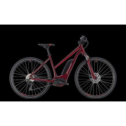 Cube Cross Hybrid Pro 400 Damen E-Bike 2018 | darkred´n´red