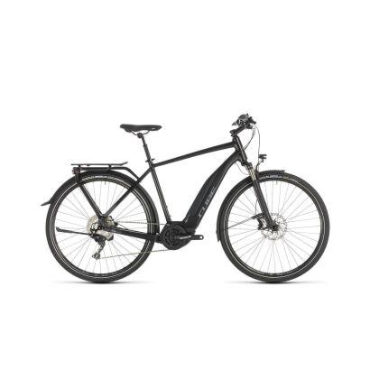 cube touring hybrid exc 500 damen e bike 2018 black n grey. Black Bedroom Furniture Sets. Home Design Ideas